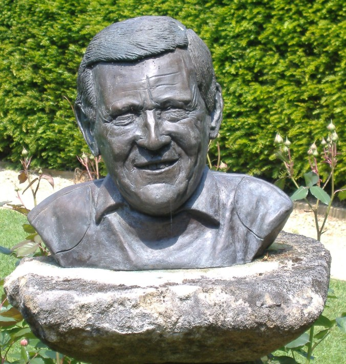 A Bronze Memorial of Geoff Hamilton created by his Son Chris.