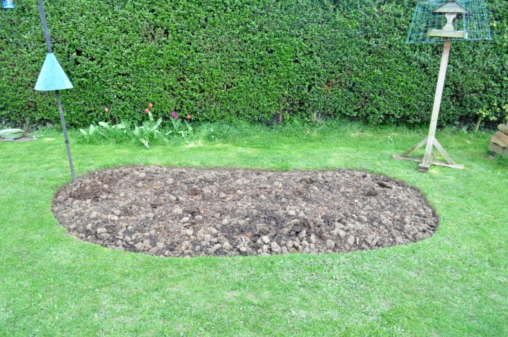 I dug up some lawn.