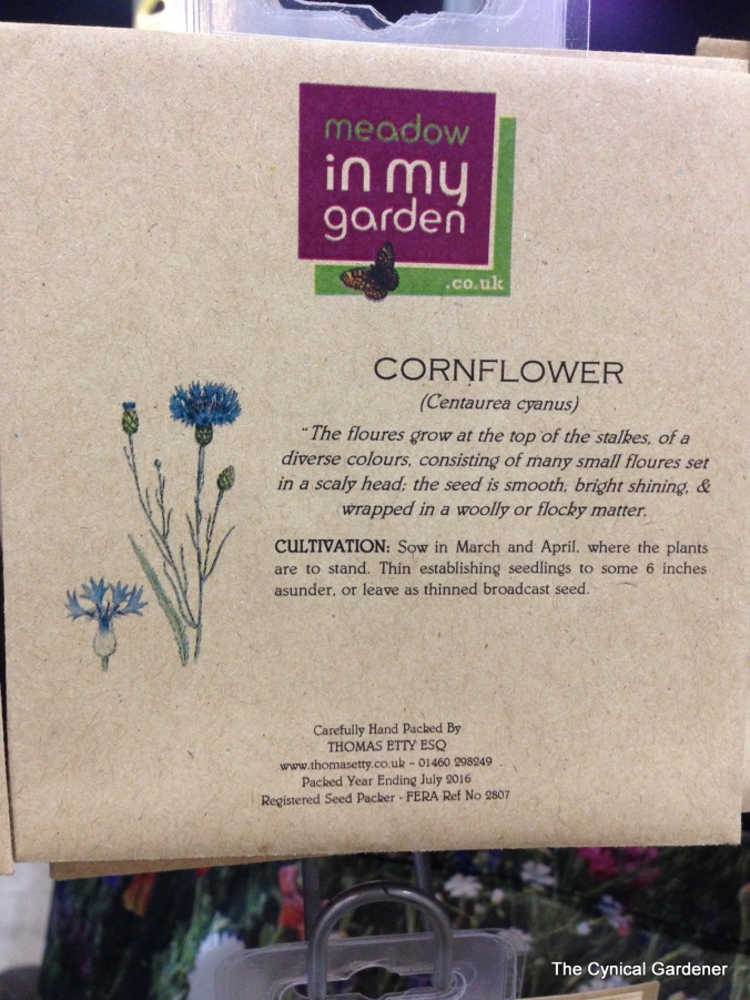 Beautifully designed seed packets from Meadow in my Garden.