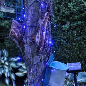 Solar String Light with 100 Blue LED's