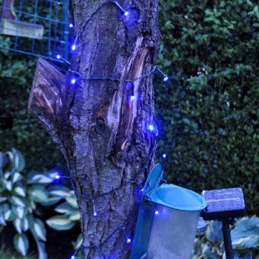 Solar String Light with 100 Blue LED's