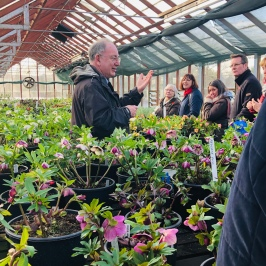 Howard Drury explaining the Hellebore Production